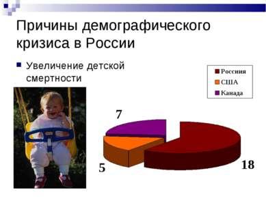 Причины демографического кризиса в России Увеличение детской смертности