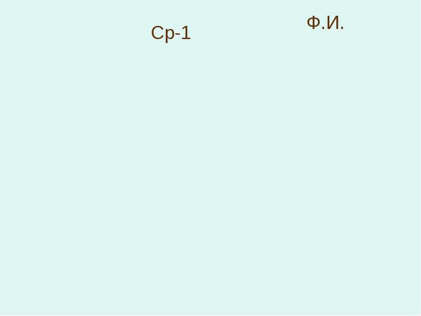 Cр-1 Ф.И.
