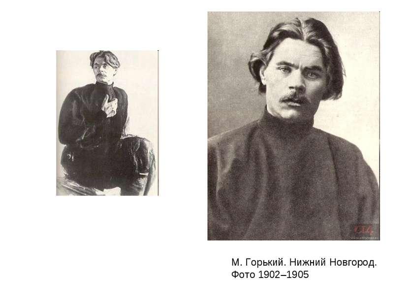 М. Горький. Нижний Новгород. Фото 1902–1905