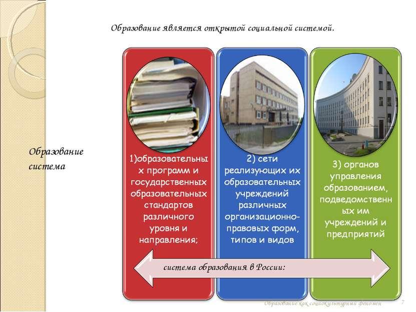 Образование является открытой социальной системой. система образования в Росс...