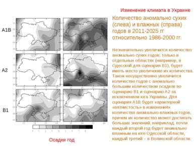 Изменение климата в Украине Осадки год Количество аномально сухих (слева) и в...