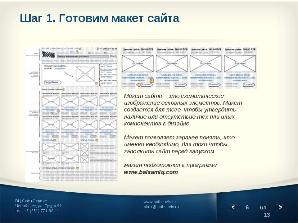Шаг 1. Готовим макет сайта Макет сайта – это схематическое изображение основн...