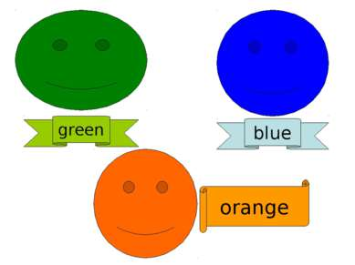 green blue orange