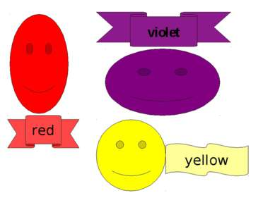 red violet yellow