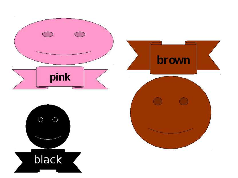 pink black brown