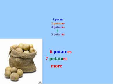 1 potato 2 potatoes 3 potatoes 4 5 potatoes 6 potatoes 7 potatoes more
