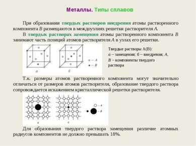 Металлы. Типы сплавов