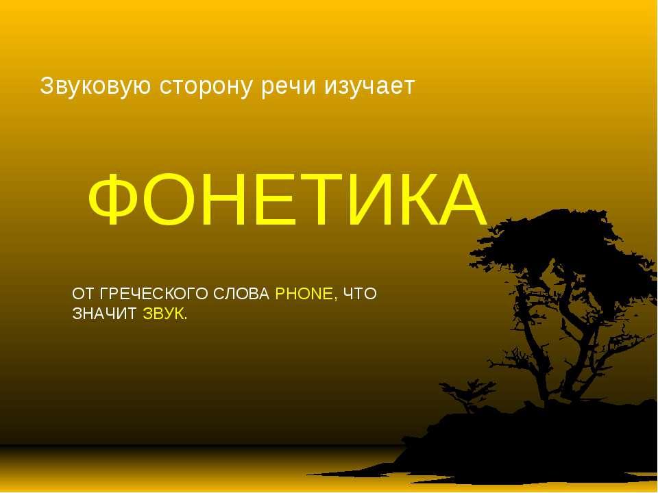 Звуковую сторону речи изучает ФОНЕТИКА ОТ ГРЕЧЕСКОГО СЛОВА PHONE, ЧТО ЗНАЧИТ ...