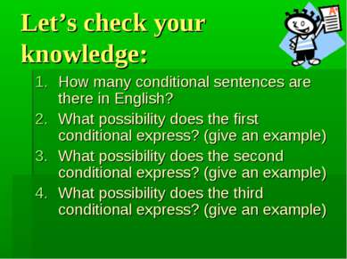 Let's check your knowledge: How many conditional sentences are there in Engli...
