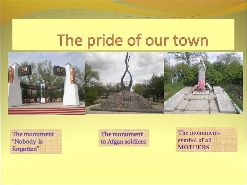 The monument- symbol of all MOTHERS