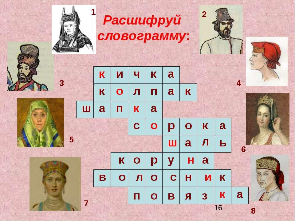 Расшифруй словограмму: п к и ч а к к о л п а к ш а п к а с о р о к а ш а л ь ...