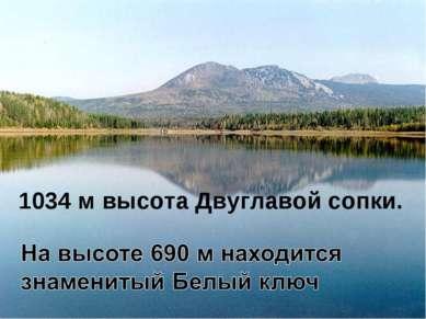 1034 м высота Двуглавой сопки.