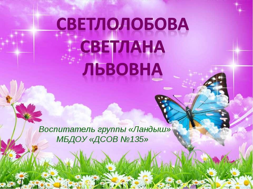 Воспитатель группы «Ландыш» МБДОУ «ДСОВ №135»