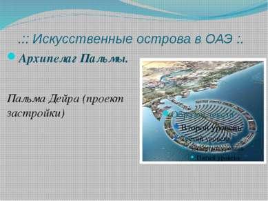 .:: Искусственные острова в ОАЭ :. Архипелаг Пальмы. Пальма Дейра (проект зас...