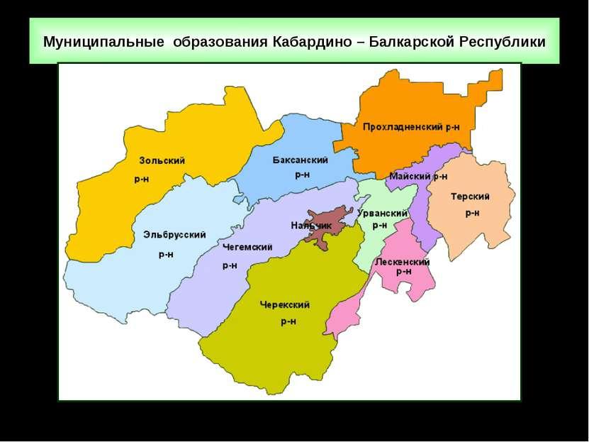 Муниципальные образования Кабардино – Балкарской Республики