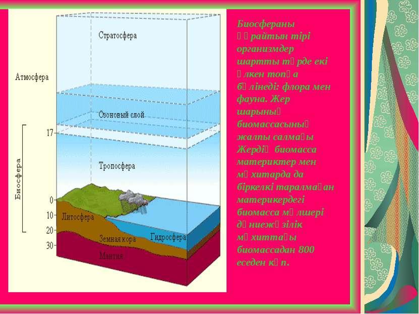 Биосфераны құрайтын тірі организмдер шартты түрде екі үлкен топқа бөлінеді: ф...