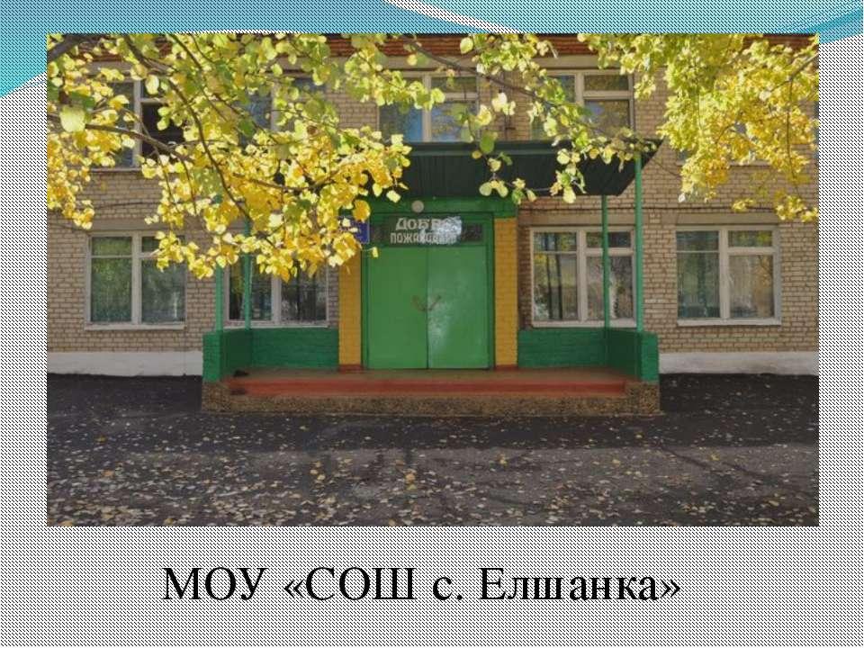 МОУ «СОШ с. Елшанка»