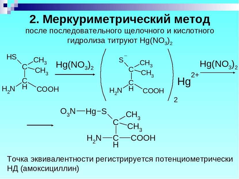 2. Меркуриметрический метод после последовательного щелочного и кислотного ги...