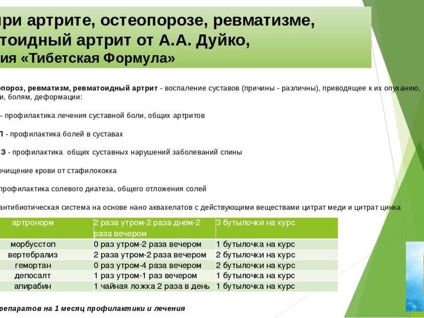 Курс при артрите, остеопорозе, ревматизме, ревматоидный артритот А.А. Дуйко,...
