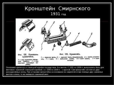 Кронштейн Смирнского 1931 год Основание крепилось к ствольной коробке посредс...