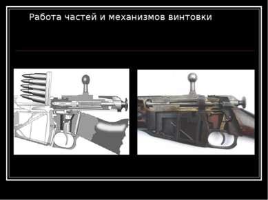 Работа частей и механизмов винтовки