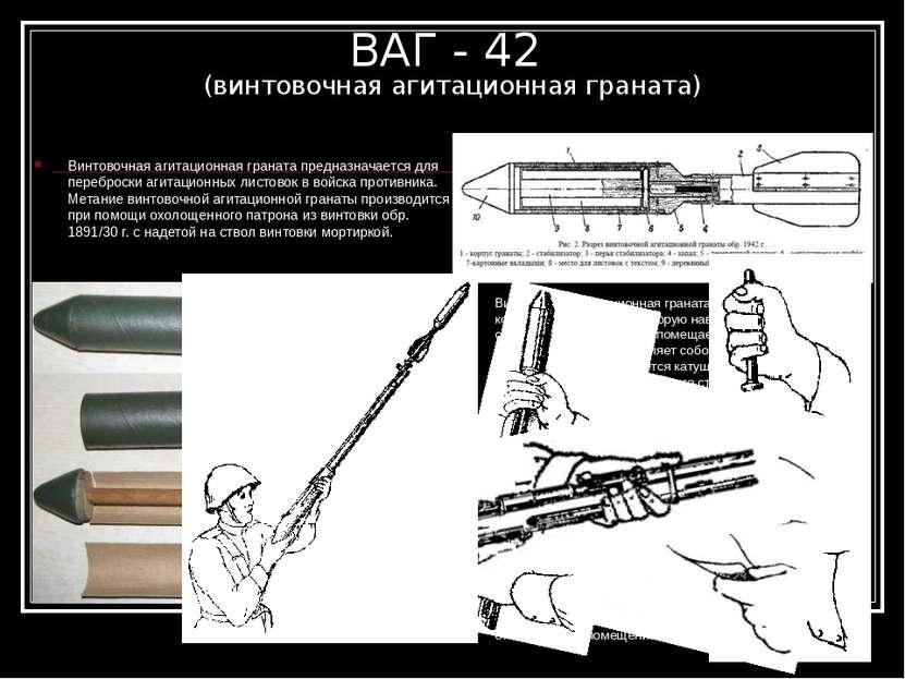 ВАГ - 42 (винтовочная агитационная граната) Винтовочная агитационная граната ...