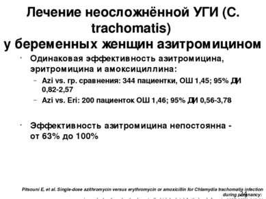 Pitsouni E, et al. Single-dose azithromycin versus erythromycin or amoxicilli...
