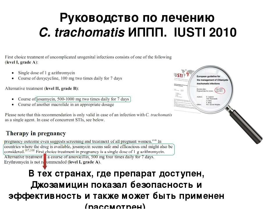 Руководство по лечению C. trachomatis ИППП. IUSTI 2010 В тех странах, где пре...