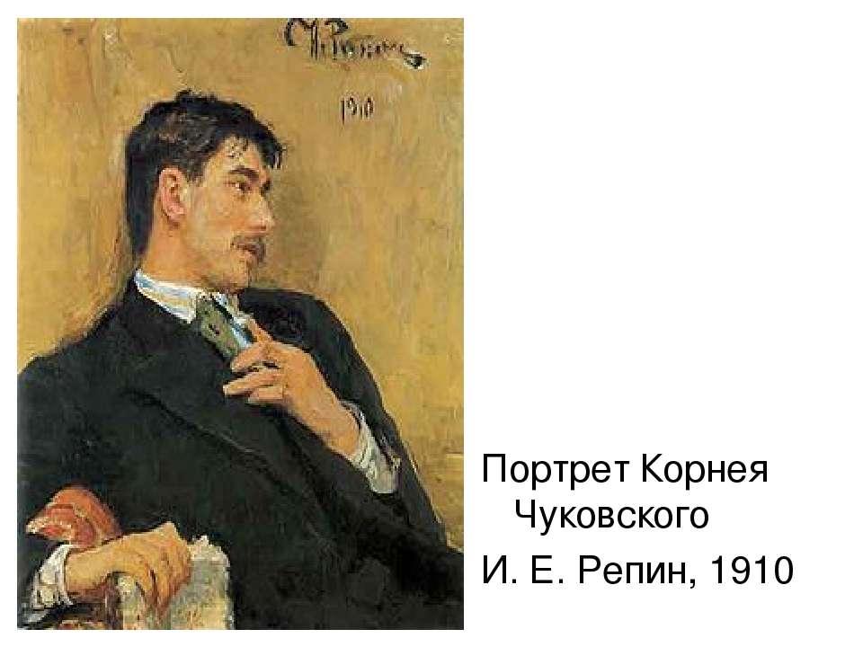 Портрет Корнея Чуковского И. Е. Репин, 1910