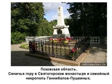 Псковская область. Синичья гору в Святогорском монастыре и семейный некрополь...