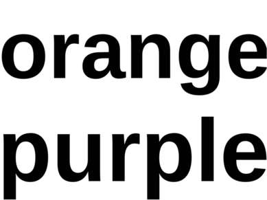 orange purple