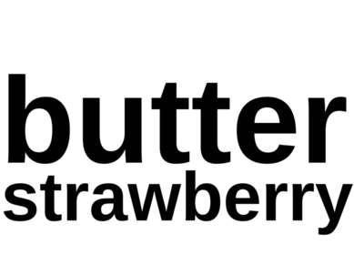 butter strawberry