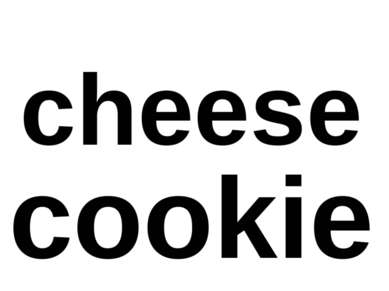 cheese cookie