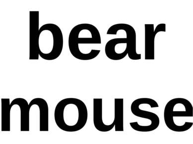 bear mouse