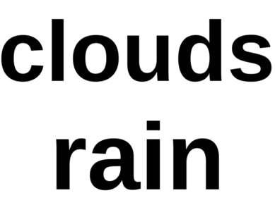 clouds rain