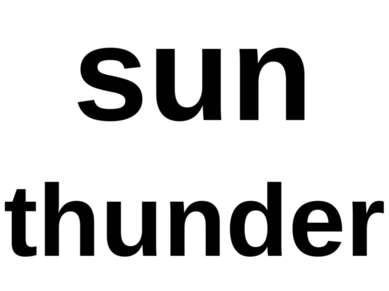 sun thunder