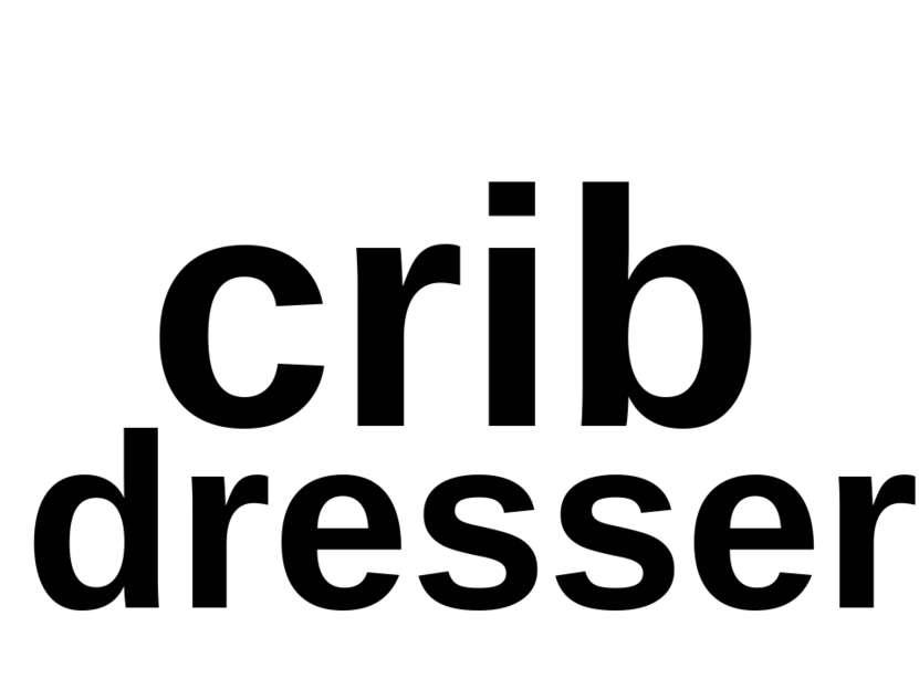 crib dresser