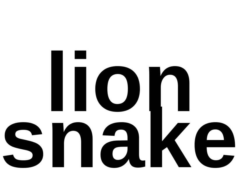 lion snake