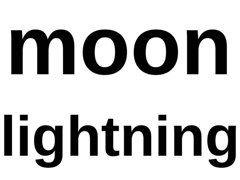 moon lightning