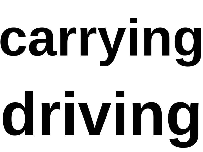carrying driving