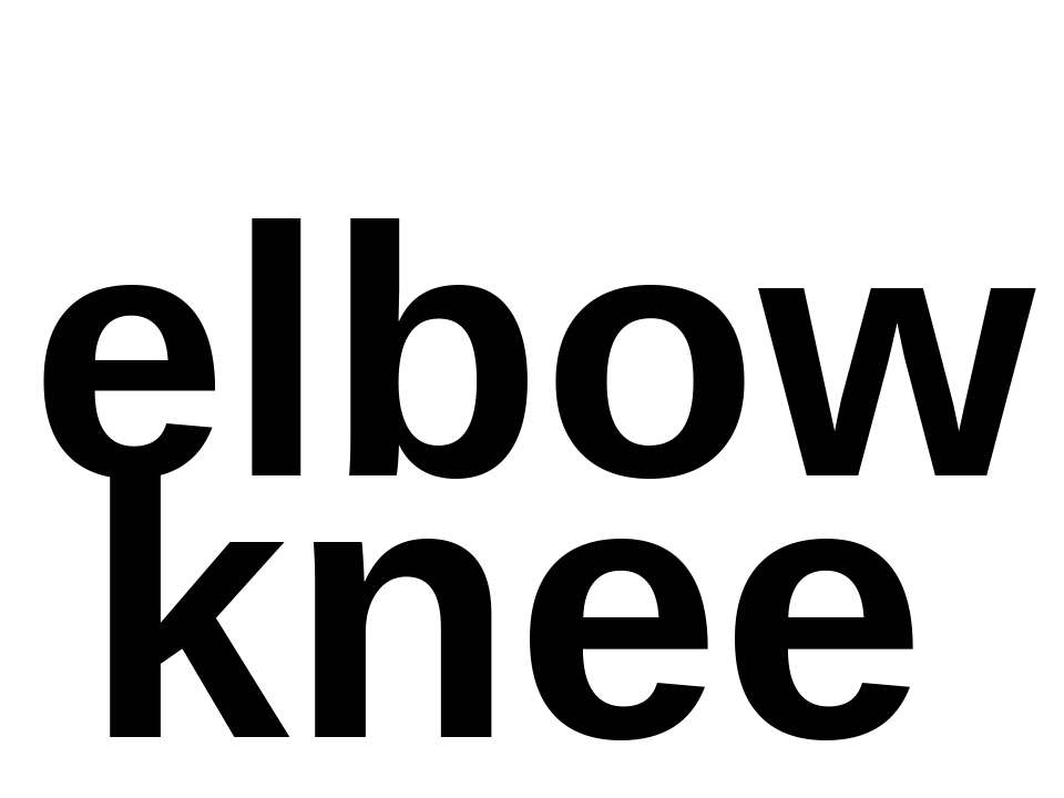 elbow knee