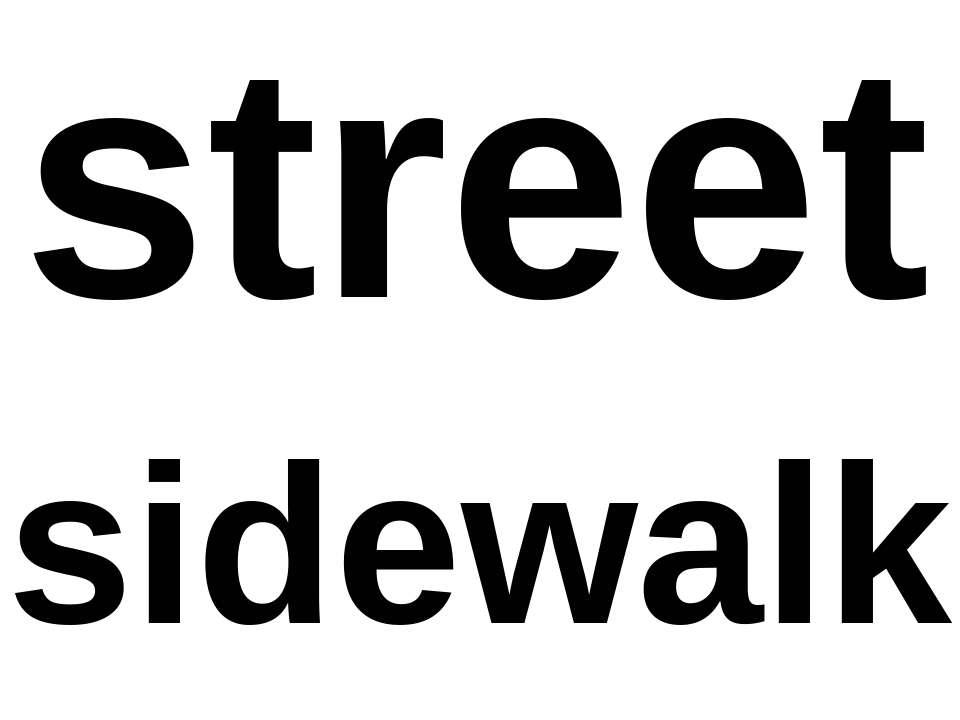 street sidewalk