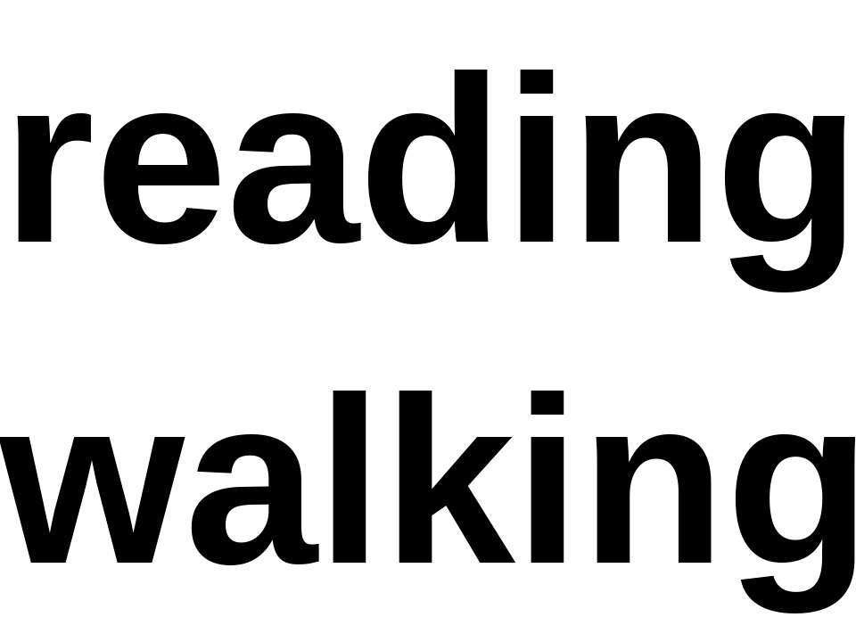 reading walking