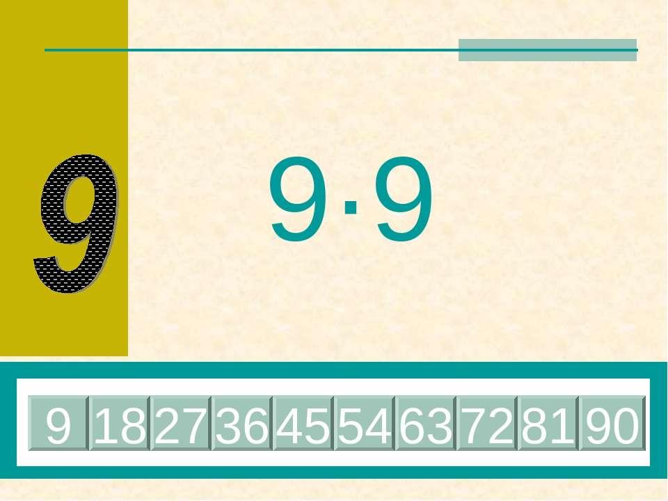 9·9 81 18 27 36 45 54 63 72 9 90