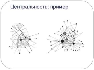 Центральность: пример