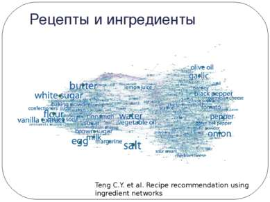 Рецепты и ингредиенты Teng C.Y. et al. Recipe recommendation using ingredient...