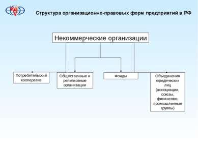 Структура организационно-правовых форм предприятий в РФ Некоммерческие органи...