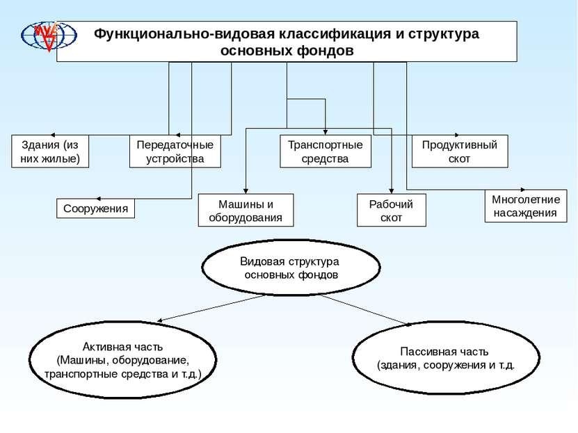 Функционально-видовая классификация и структура основных фондов Здания (из ни...