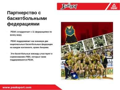 Партнерство с баскетбольными федерациями PEAK сотрудничает с 11 федерациями п...