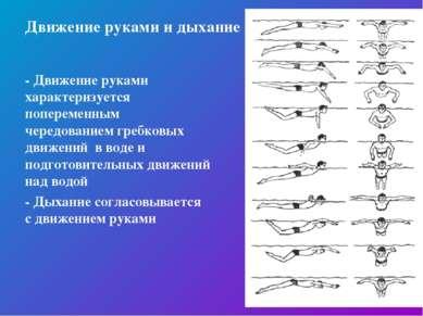 Движение руками и дыхание - Движение руками характеризуется попеременным чере...
